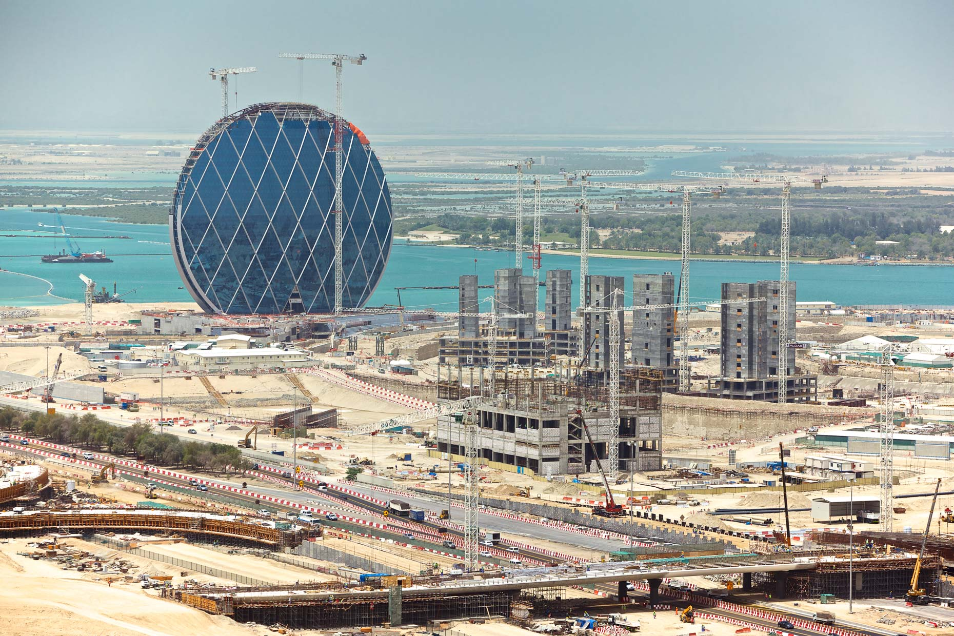 Aldaar HQ Under Construction - Abu Dhabi, UAE