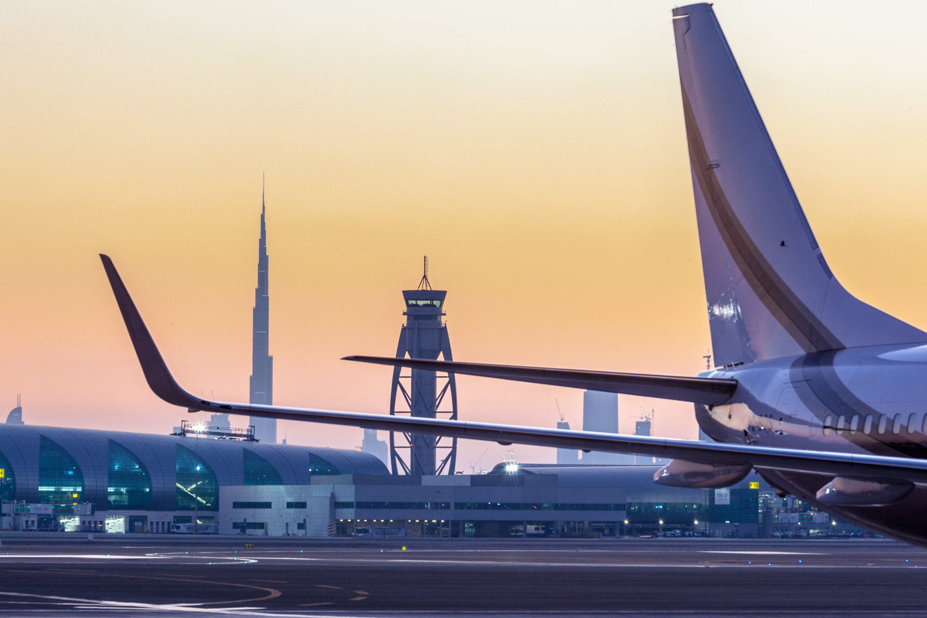 Sunset Duba Airport Tower | UAE